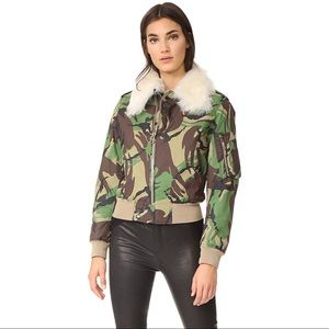 Rag & Bone Camo Flight jacket with shearling